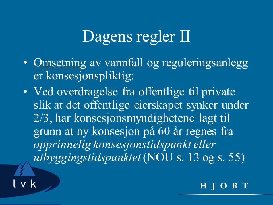 Partivedtak •Høyres stortingsvalgprogram 2005-2009: • Et for omfattende offentlig eierskap er uhensiktsmessig i en så dynamisk næring som kraftnæringen.