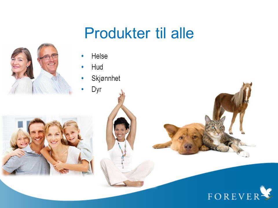Produkter til alle • Helse • Hud • Skjønnhet • Dyr