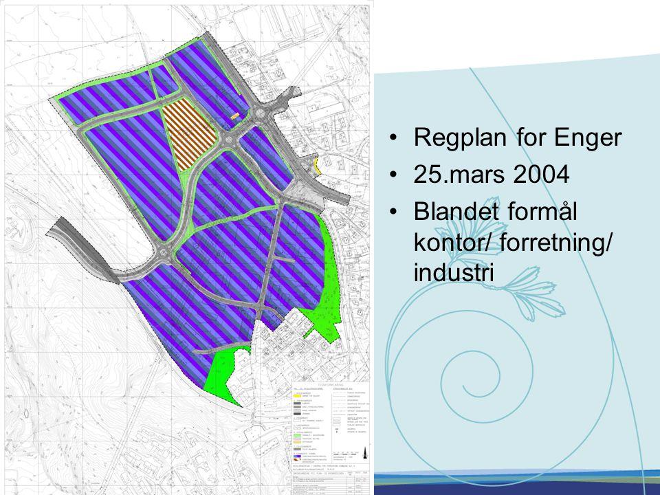 •Regplan for Enger •25.mars 2004 •Blandet formål kontor/ forretning/ industri