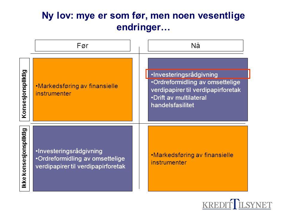 Hva menes med investeringsrådgivning .
