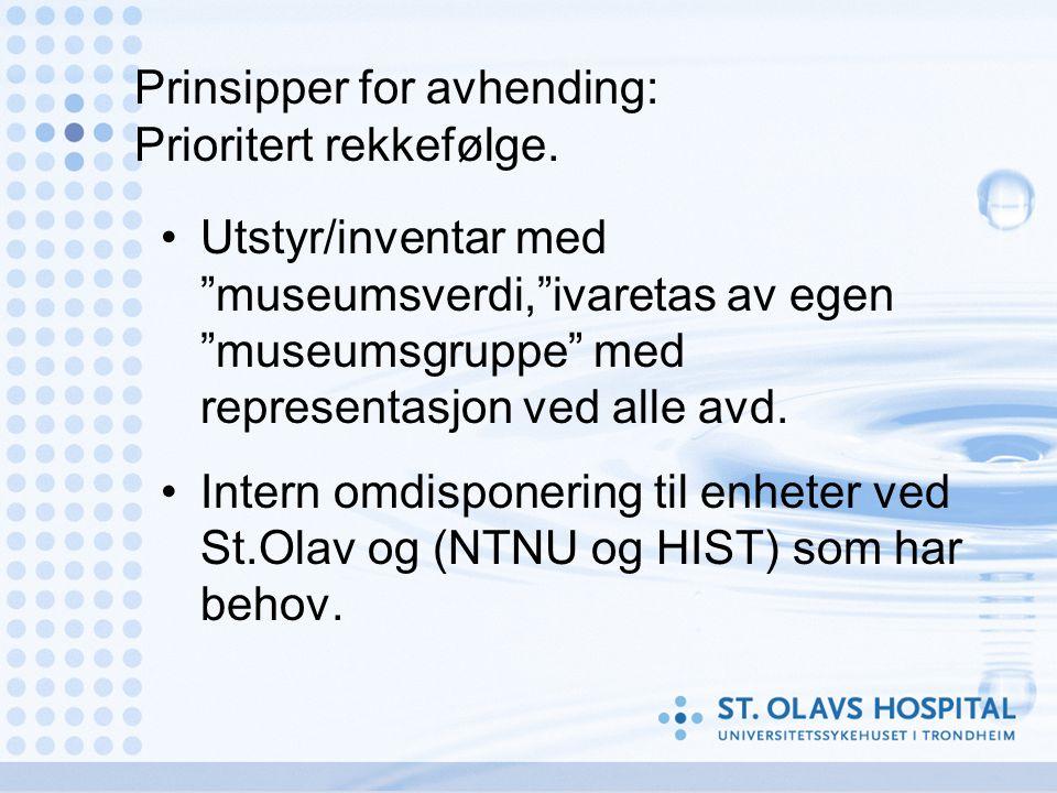 Prinsipper for avhending: Prioritert rekkefølge.