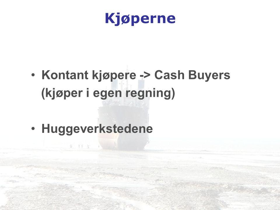 Kjøperne •Kontant kjøpere -> Cash Buyers (kjøper i egen regning) •Huggeverkstedene