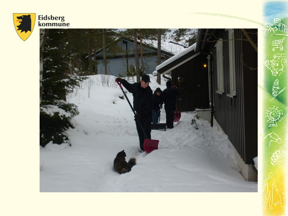 Vaktmester: •Snømåking, handle, stable ved, rake løv og lignende Inntekt: 50kr.