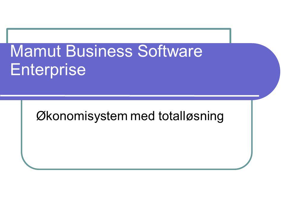 Mamut Business Software Enterprise Økonomisystem med totalløsning