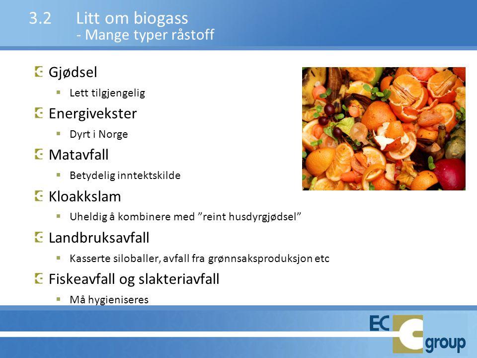 """Gjødsel  Lett tilgjengelig Energivekster  Dyrt i Norge Matavfall  Betydelig inntektskilde Kloakkslam  Uheldig å kombinere med """"reint husdyrgjødsel"""