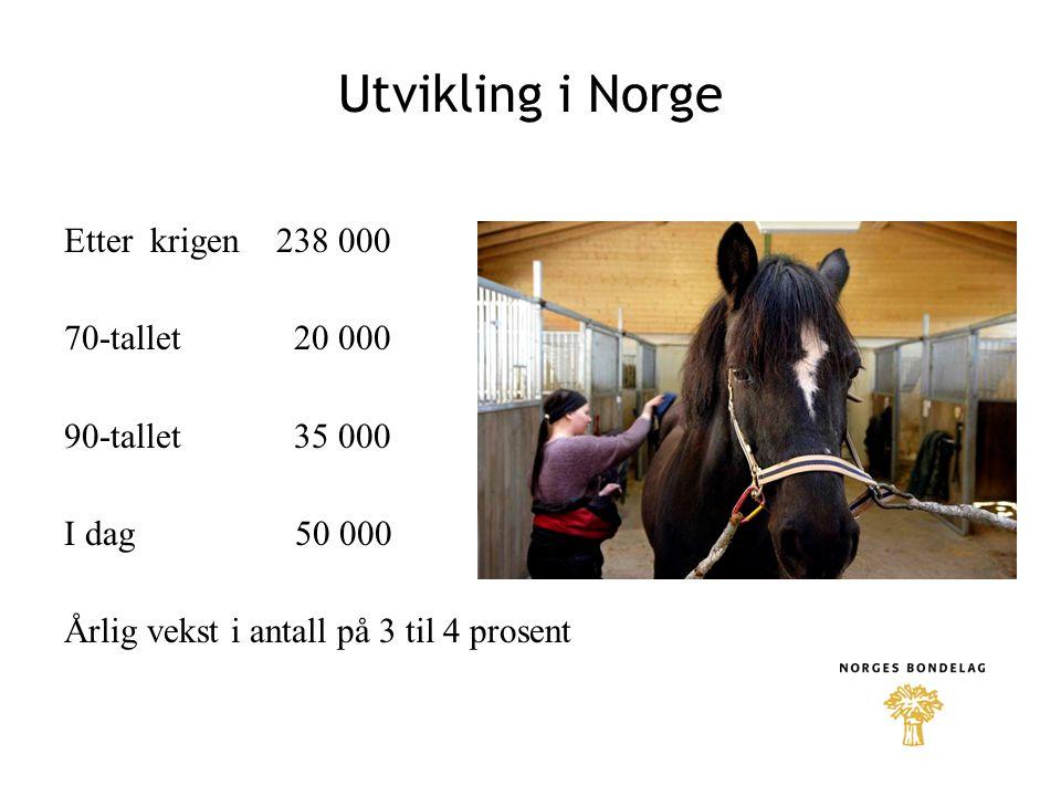 Utdanning, kurs og forskning •Norges Bondelag bør arbeide for å få til et kryssløp mellom VG2 heste- og hovslagerfag og VG3 landbruk og husdyrhold for å få agronomkompetanse.