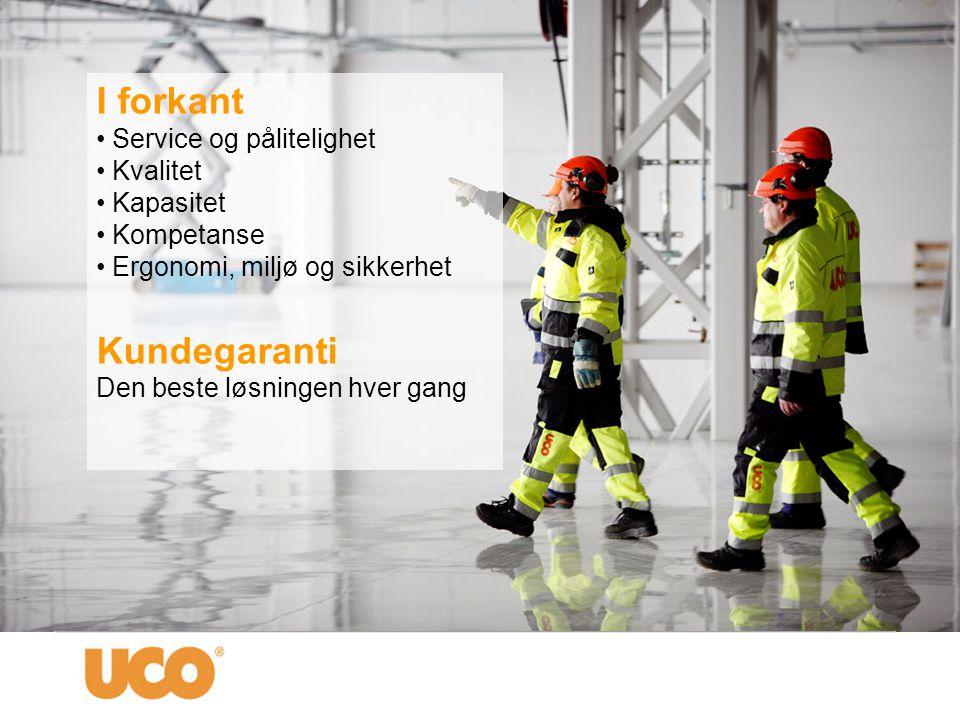 Kundefokus UCO er en utleie- og Serviceleverandør spesialisert på å betjene kunder i det profesjonelle marked innen: • Bygg • Anlegg • Industri • Offentlige virksomheter