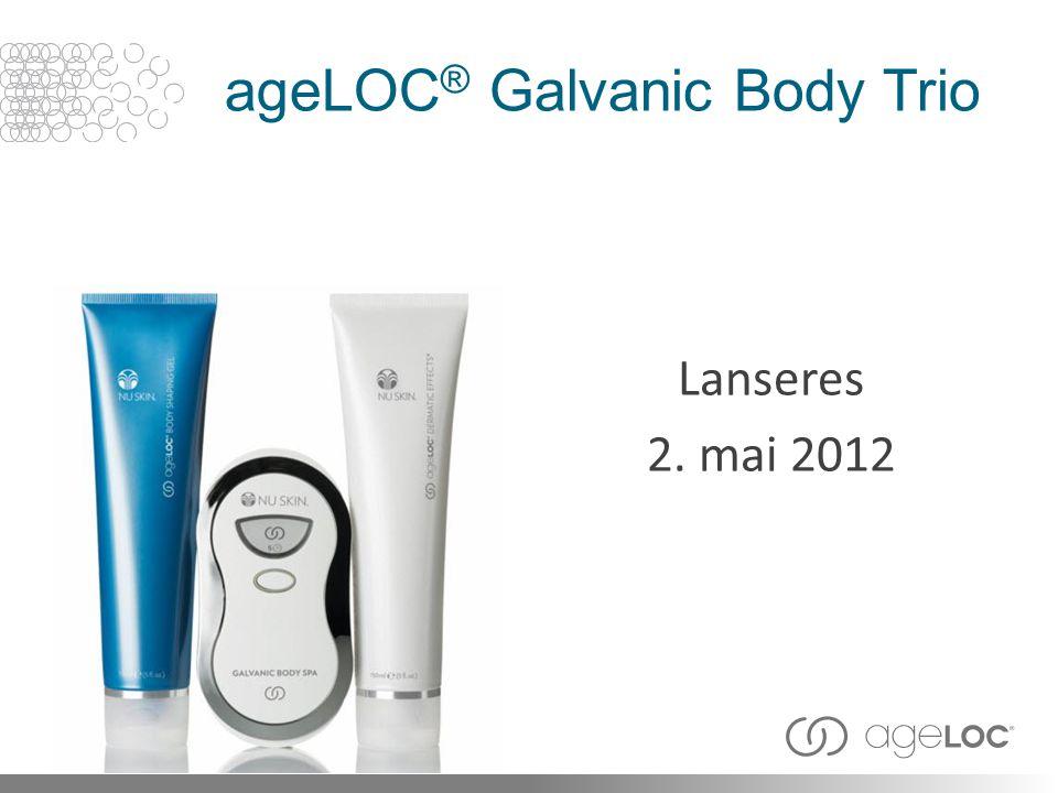 ageLOC ® Galvanic Body Trio Lanseres 2. mai 2012