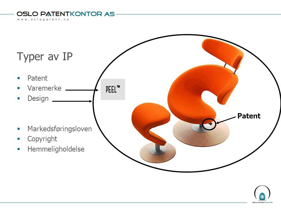 Ulike former for lisensavtaler Flere lisenshavere  Ikke-eksklusiv lisens/enkel lisensavtale:  Patenthaver kan selv bruke oppfinnelsen og kan også gi lisens til tredjeparter  Eksempel: lisens gitt til aktør i annen bransje, eller eventuelt til konkurrenter  Husk å registrere lisensavtalen i Patentregisteret