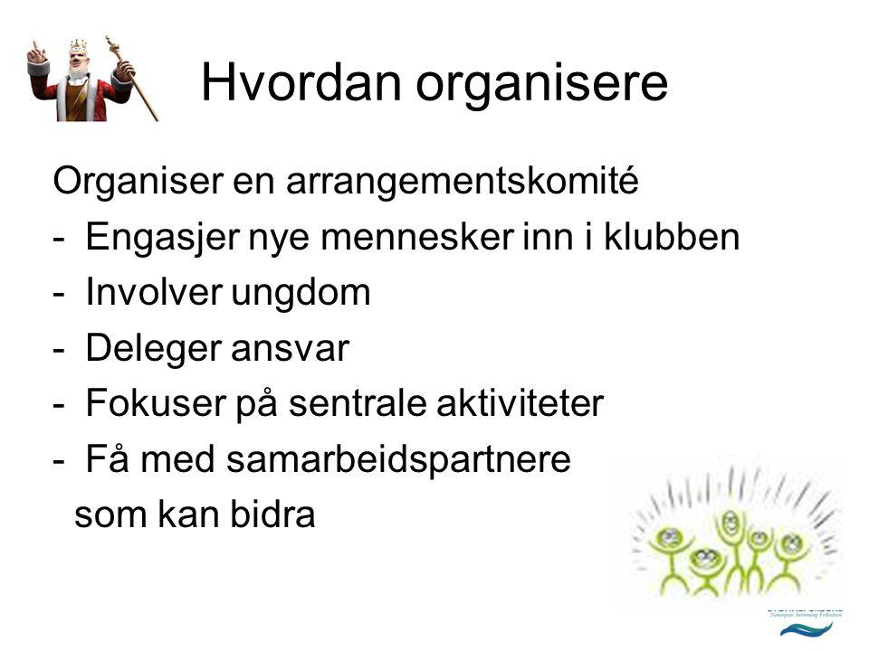 Samarbeidspartnere  Kommunen -åpent anlegg  Frivillige organisasjoner som Røde Kors, kreftforeningen, Turistforeningen..