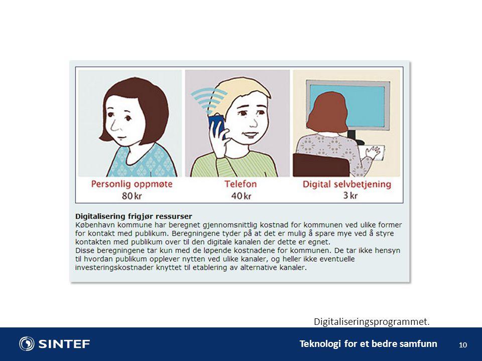 Teknologi for et bedre samfunn 10 Digitaliseringsprogrammet.