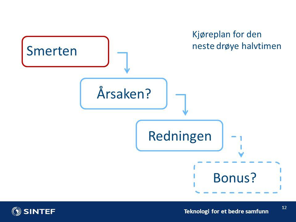 Teknologi for et bedre samfunn 12 Årsaken. Redningen Bonus.