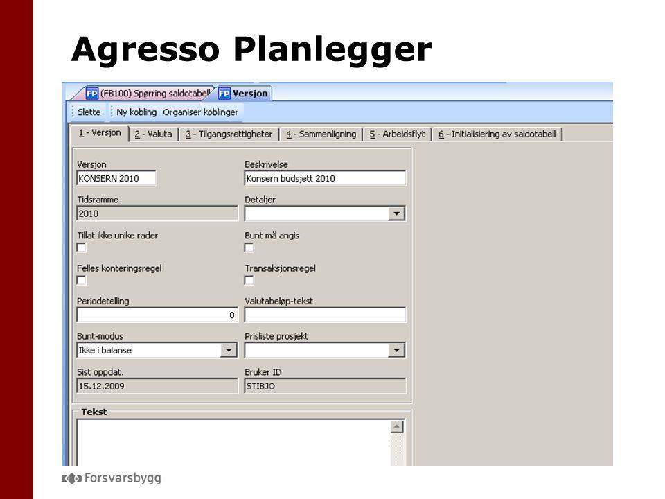 Agresso Planlegger