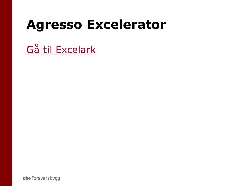 Agresso Excelerator Gå til Excelark