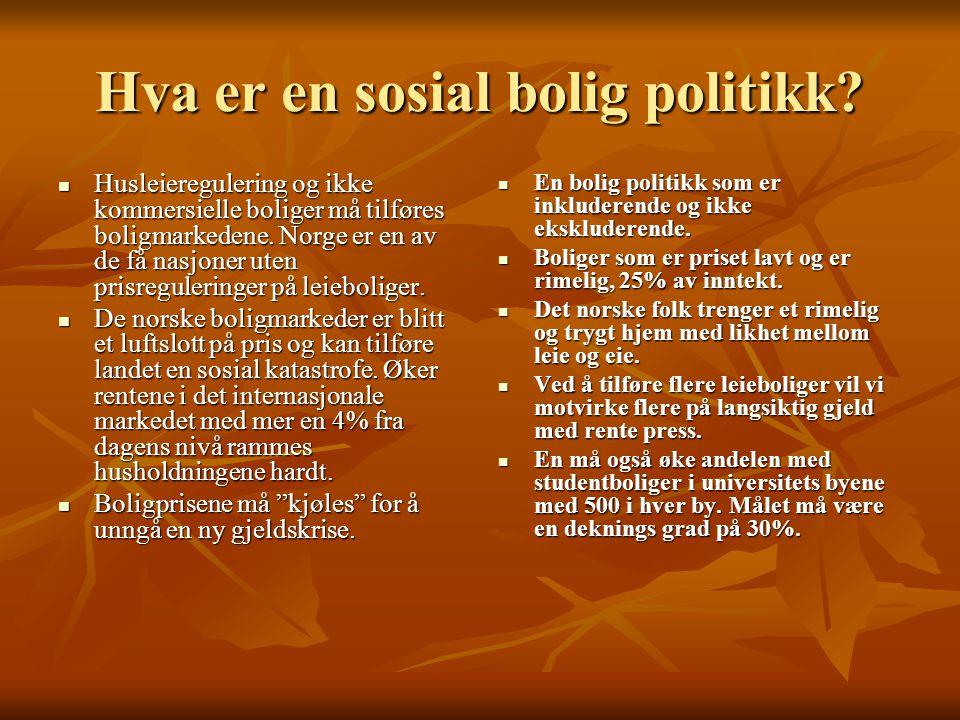 Hva er en sosial bolig politikk.