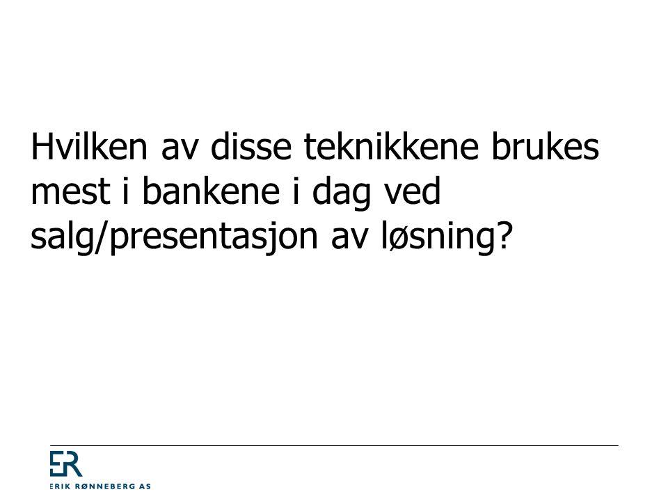 Tidsbruk på ÅFK-modellen Tid Problem Løsningsalternativ Beslutning Konsekvens (nytte) Kjøpsinteresse 20 - 40 % Fordel Årsak 0 - 10 % 50 - 80 %
