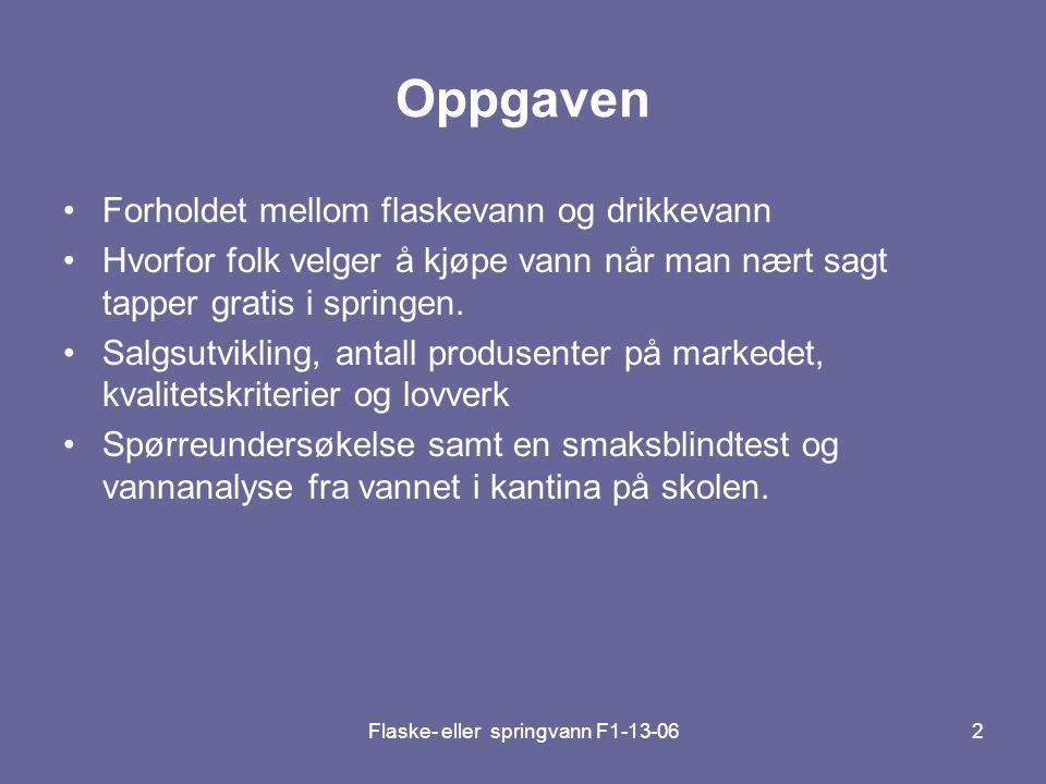 Flaske- eller springvann F1-13-0633 •Valleråsen Vannbehandlingsanlegg forsyner hele Porsgrunn og Brevik med rent friskt vann.