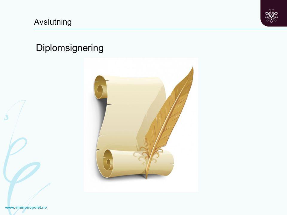 Avslutning Diplomsignering www.vinmonopolet.no