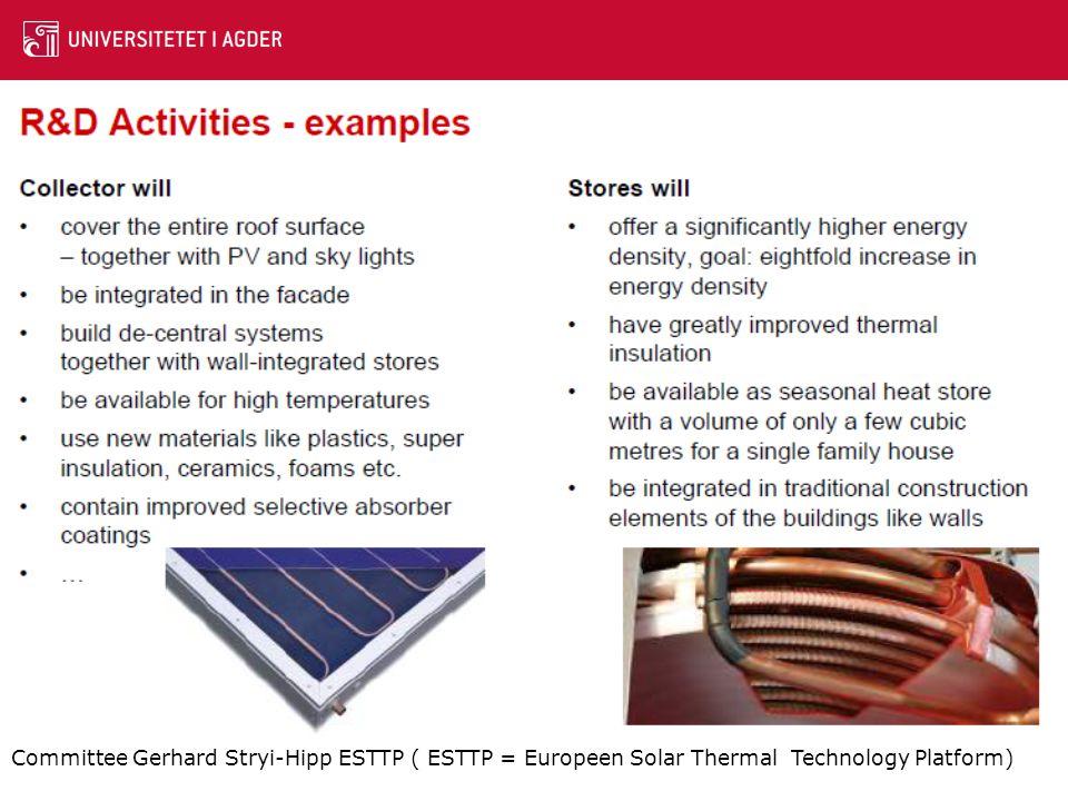 Committee Gerhard Stryi-Hipp ESTTP ( ESTTP = Europeen Solar Thermal Technology Platform)