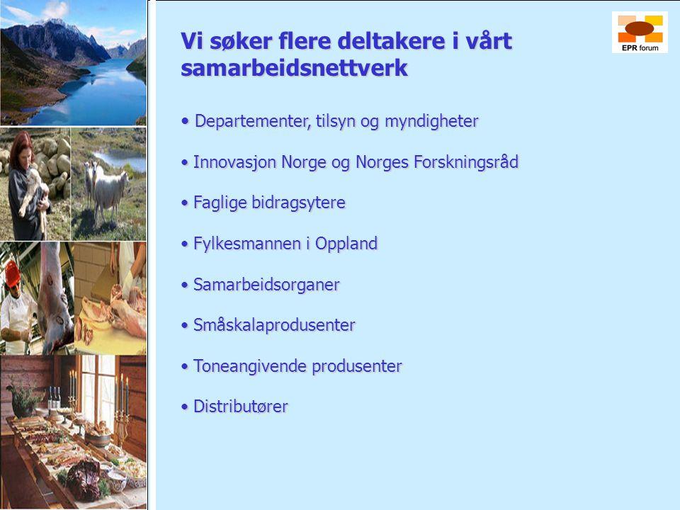 Vi søker flere deltakere i vårt samarbeidsnettverk • Departementer, tilsyn og myndigheter • Departementer, tilsyn og myndigheter • Innovasjon Norge og