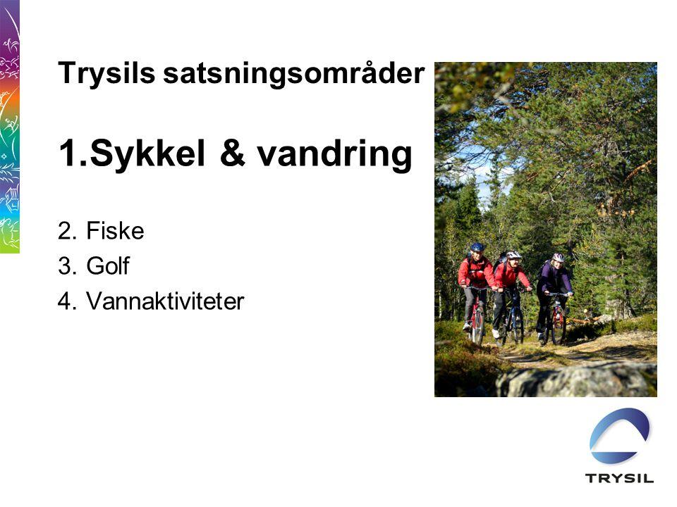 Trysils satsningsområder 1.Sykkel & vandring 2.Fiske 3.Golf 4.Vannaktiviteter