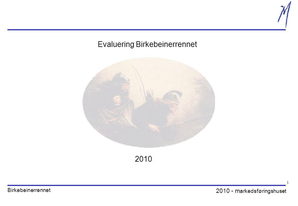 2010 - m arkedsføringshuset Birkebeinerrennet 1 Evaluering Birkebeinerrennet 2010