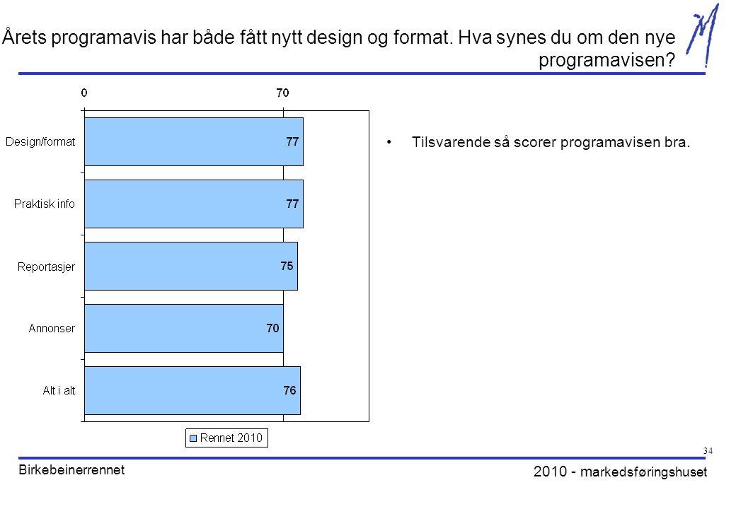 2010 - m arkedsføringshuset Birkebeinerrennet 34 Årets programavis har både fått nytt design og format.