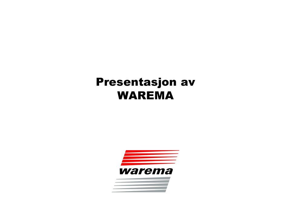 Firmastruktur WAREMA er en av Europas ledende produsenter av solskjermingssystemer.