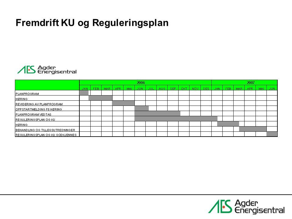 Fremdrift KU og Reguleringsplan