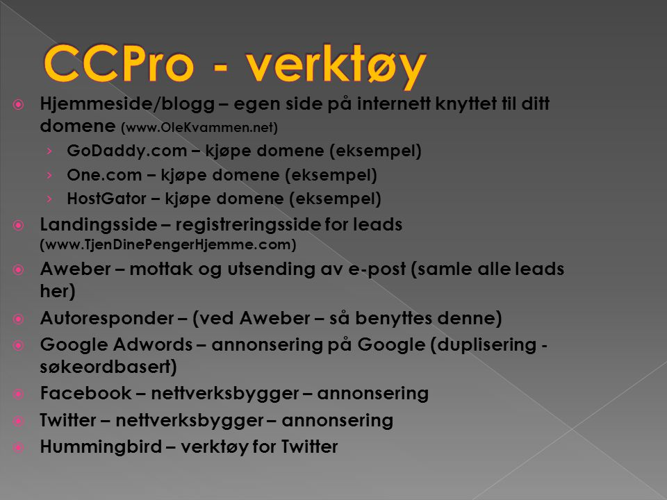  Hjemmeside/blogg – egen side på internett knyttet til ditt domene (www.OleKvammen.net) › GoDaddy.com – kjøpe domene (eksempel) › One.com – kjøpe dom