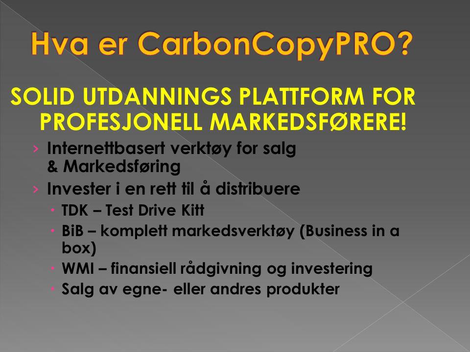 SOLID UTDANNINGS PLATTFORM FOR PROFESJONELL MARKEDSFØRERE! › Internettbasert verktøy for salg & Markedsføring › Invester i en rett til å distribuere 