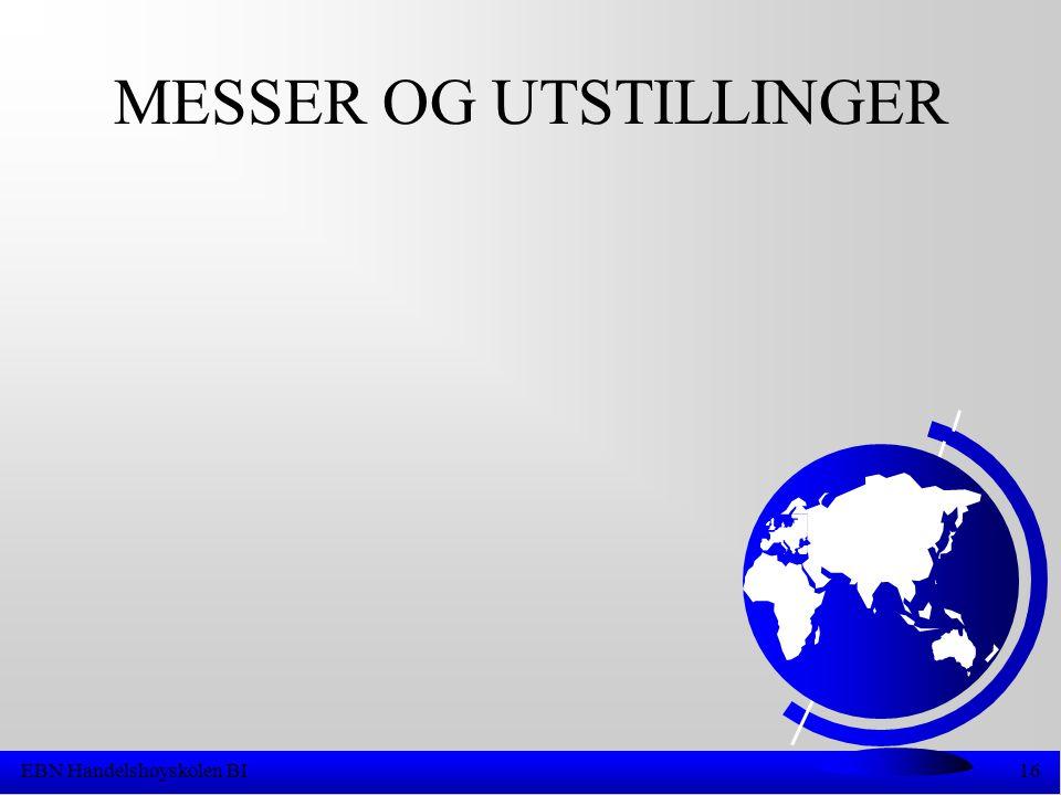 EBN Handelshøyskolen BI16 MESSER OG UTSTILLINGER