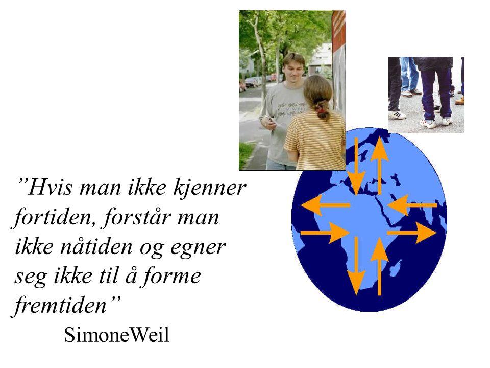 """""""Hvis man ikke kjenner fortiden, forstår man ikke nåtiden og egner seg ikke til å forme fremtiden"""" SimoneWeil"""