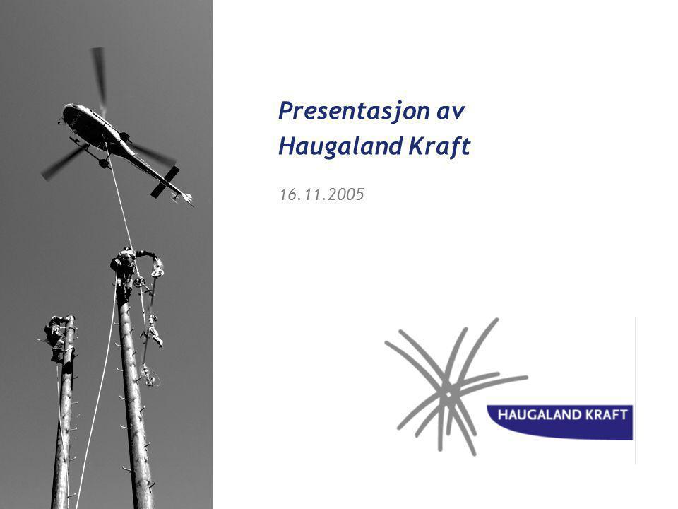 Vi gir kraft til en sterk og attraktiv region Visjon Haugaland Kraft