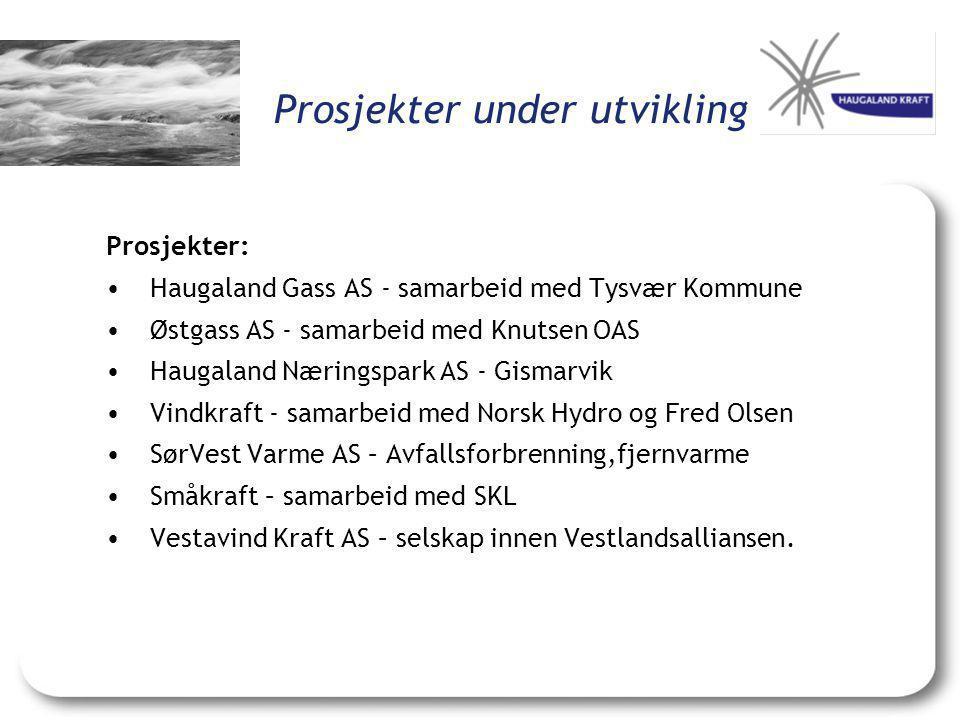 Prosjekter under utvikling Prosjekter: •Haugaland Gass AS - samarbeid med Tysvær Kommune •Østgass AS - samarbeid med Knutsen OAS •Haugaland Næringspar