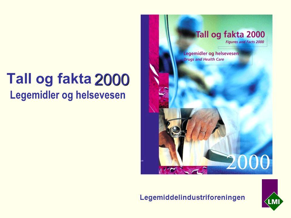 2000 Tall og fakta 2000 Legemidler og helsevesen Legemiddelindustriforeningen