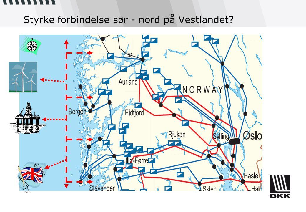 Styrke forbindelse sør - nord på Vestlandet?