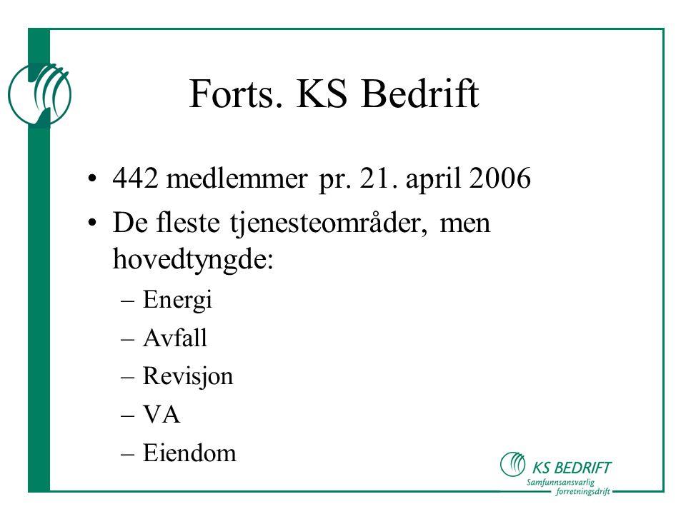 Forts.KS Bedrift •442 medlemmer pr. 21.