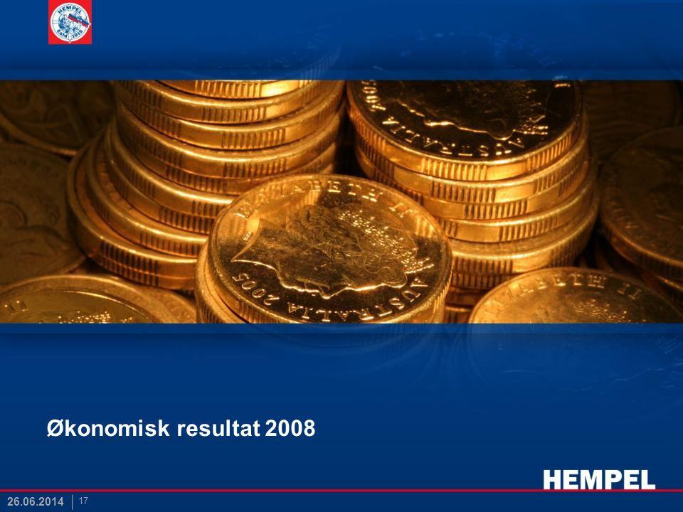 Økonomisk resultat 2008 17 26.06.2014