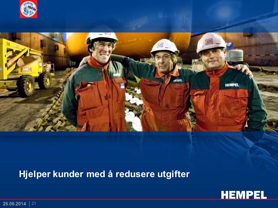 Hjelper kunder med å redusere utgifter 21 26.06.2014