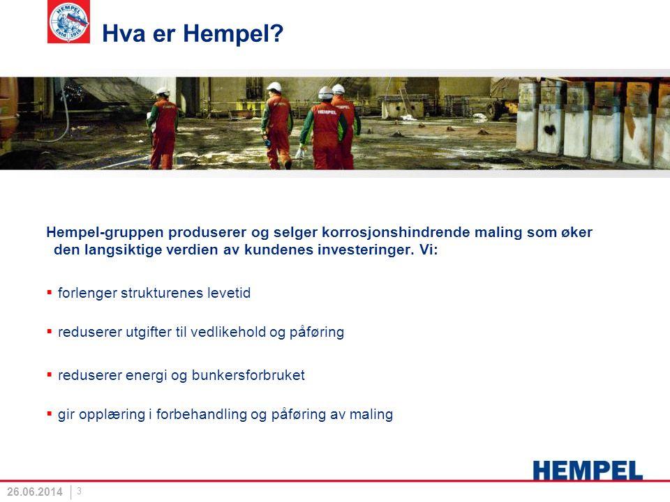 Hva er Hempel? Hempel-gruppen produserer og selger korrosjonshindrende maling som øker den langsiktige verdien av kundenes investeringer. Vi:  forlen