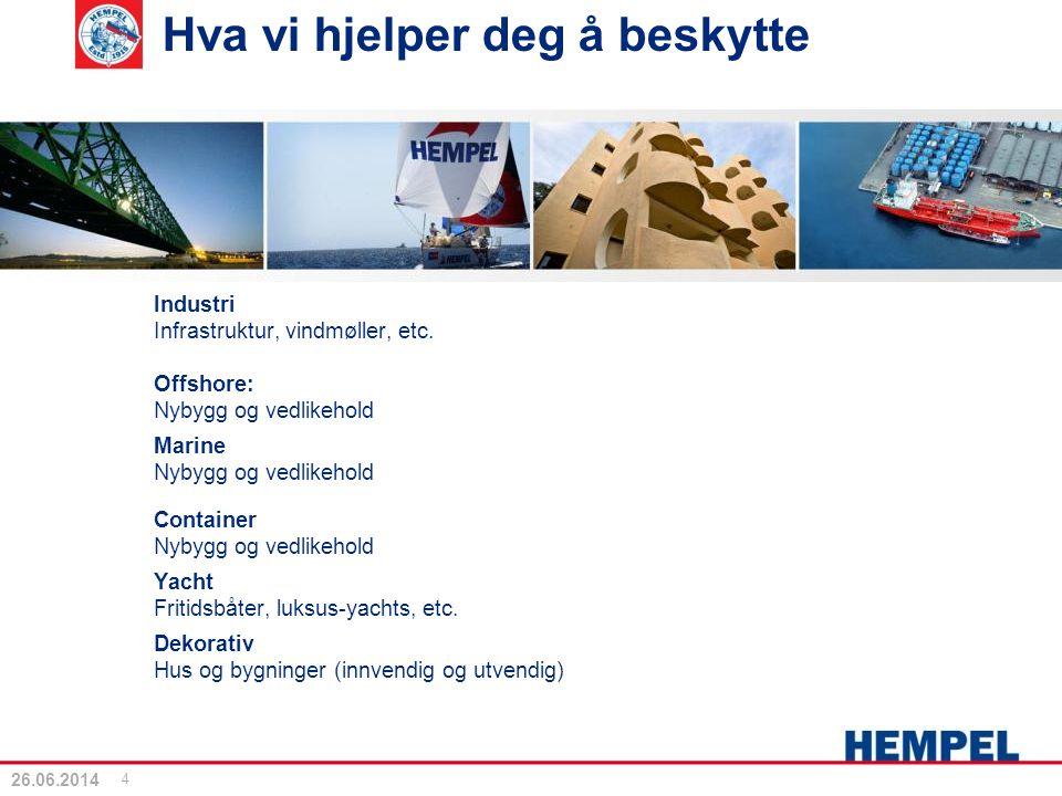 Hva vi hjelper deg å beskytte Industri Infrastruktur, vindmøller, etc. Offshore: Nybygg og vedlikehold Marine Nybygg og vedlikehold Container Nybygg o