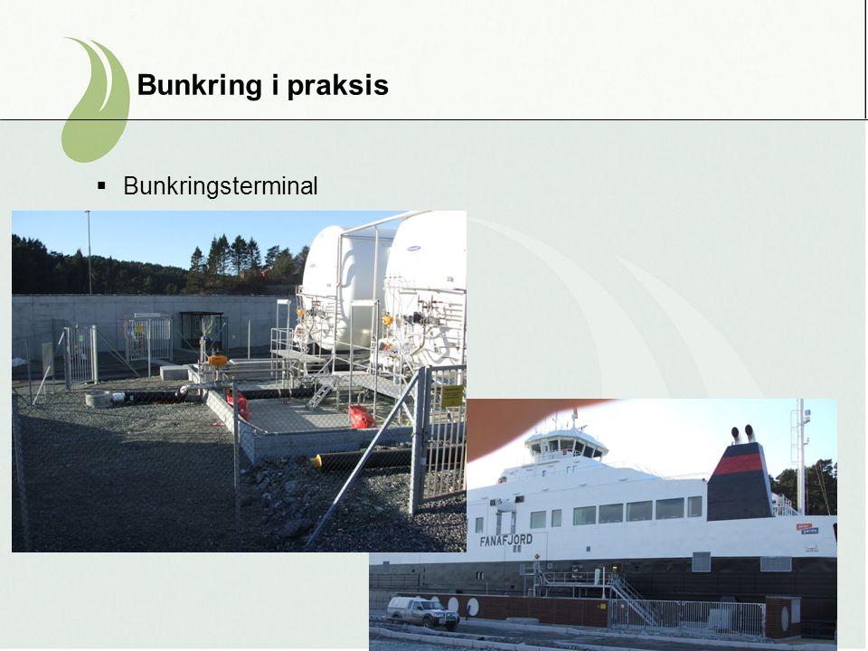 Bunkring i praksis  Bunkringsterminal