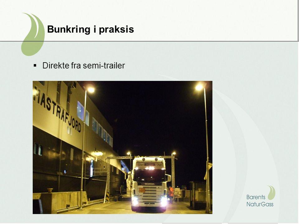 Bunkring i praksis  Direkte fra semi-trailer