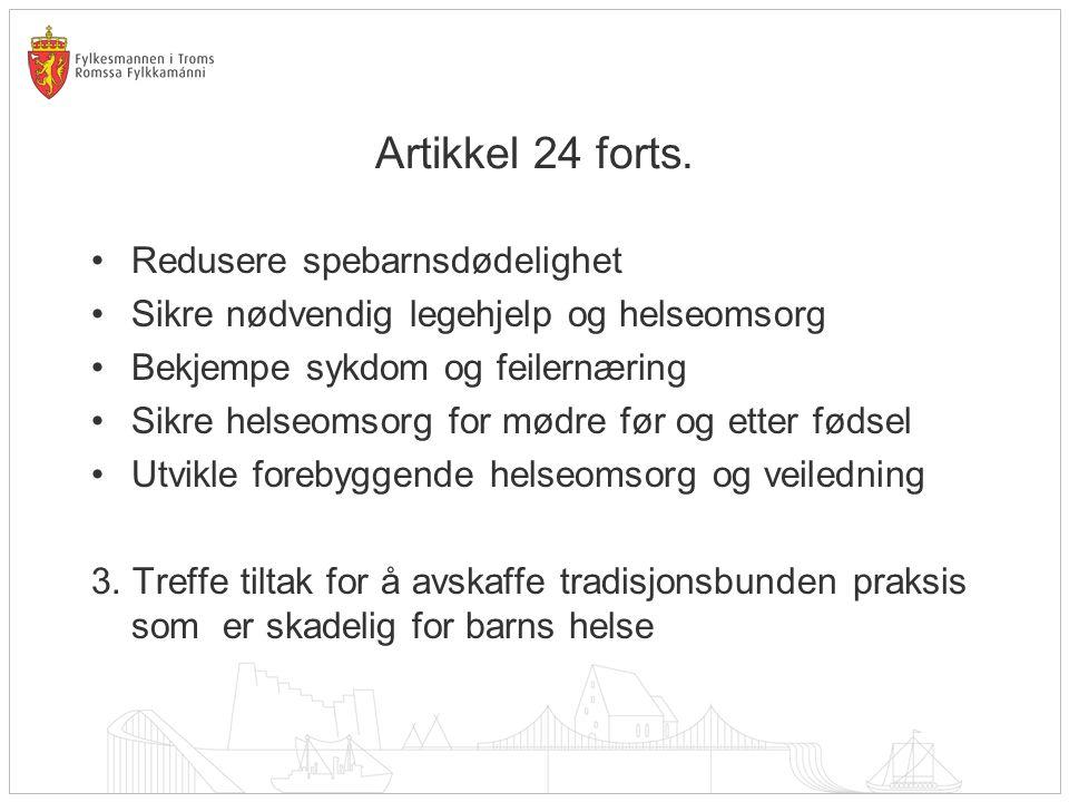 Artikkel 24 forts.