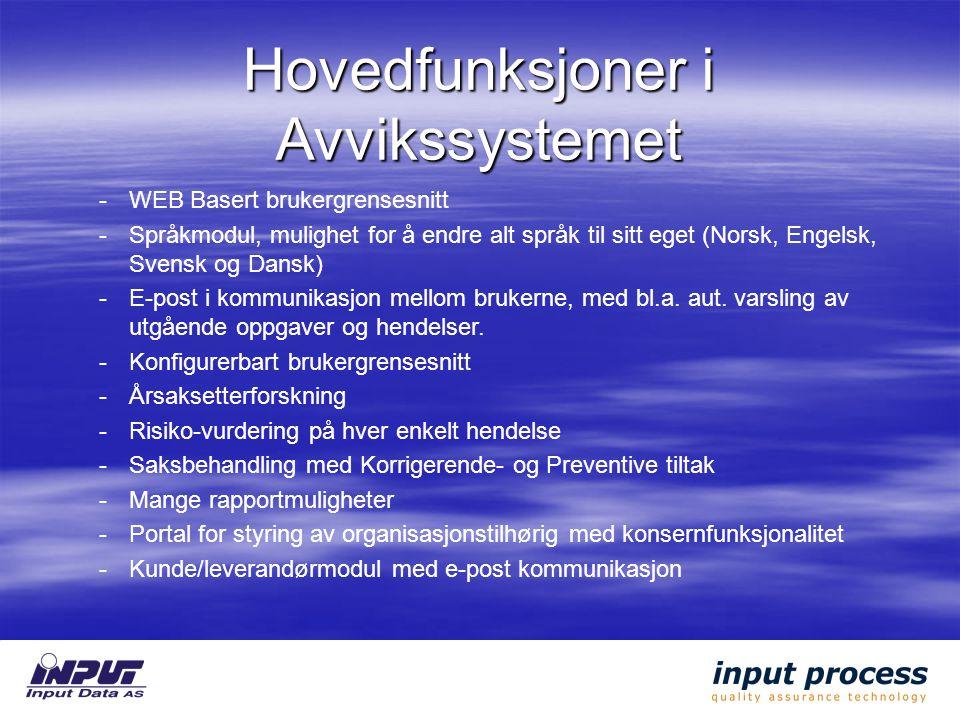 -WEB Basert brukergrensesnitt -Språkmodul, mulighet for å endre alt språk til sitt eget (Norsk, Engelsk, Svensk og Dansk) -E-post i kommunikasjon mellom brukerne, med bl.a.