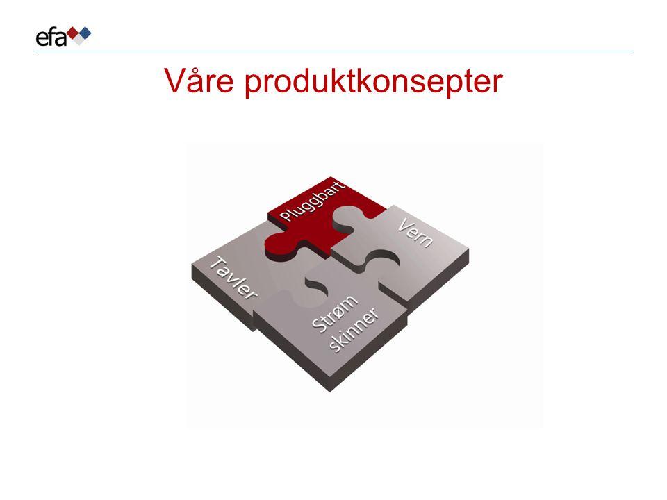 Våre produktkonsepter