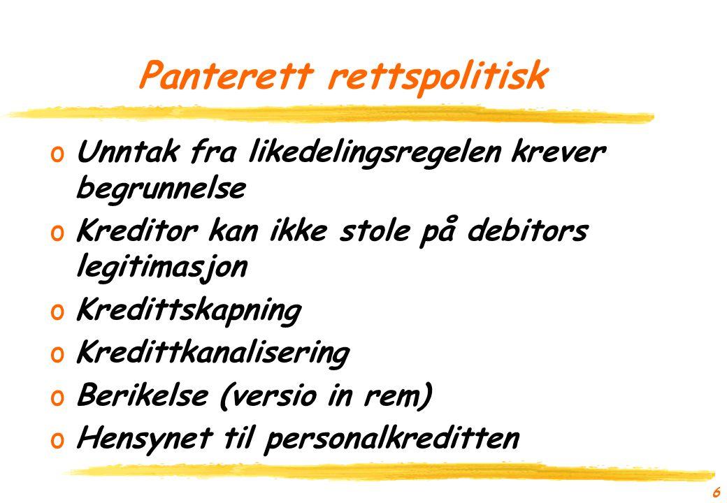 5 Panterett oHva er vitsen med en panterett.