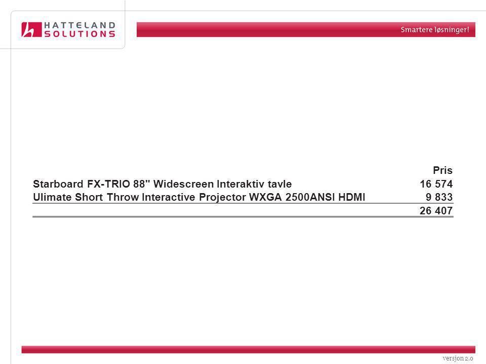 versjon 2.0 Pris Starboard FX-TRIO 88