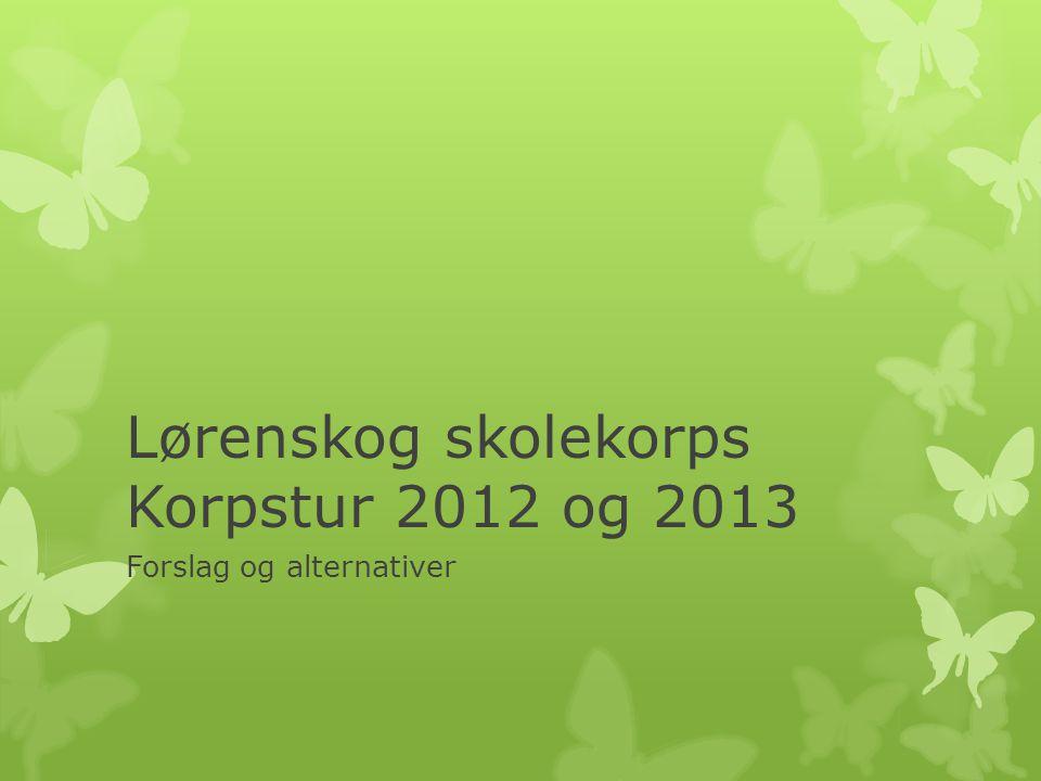 Lørenskog skolekorps Korpstur 2012 og 2013 Forslag og alternativer